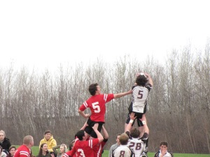 Giboi winning the line out for HTHS