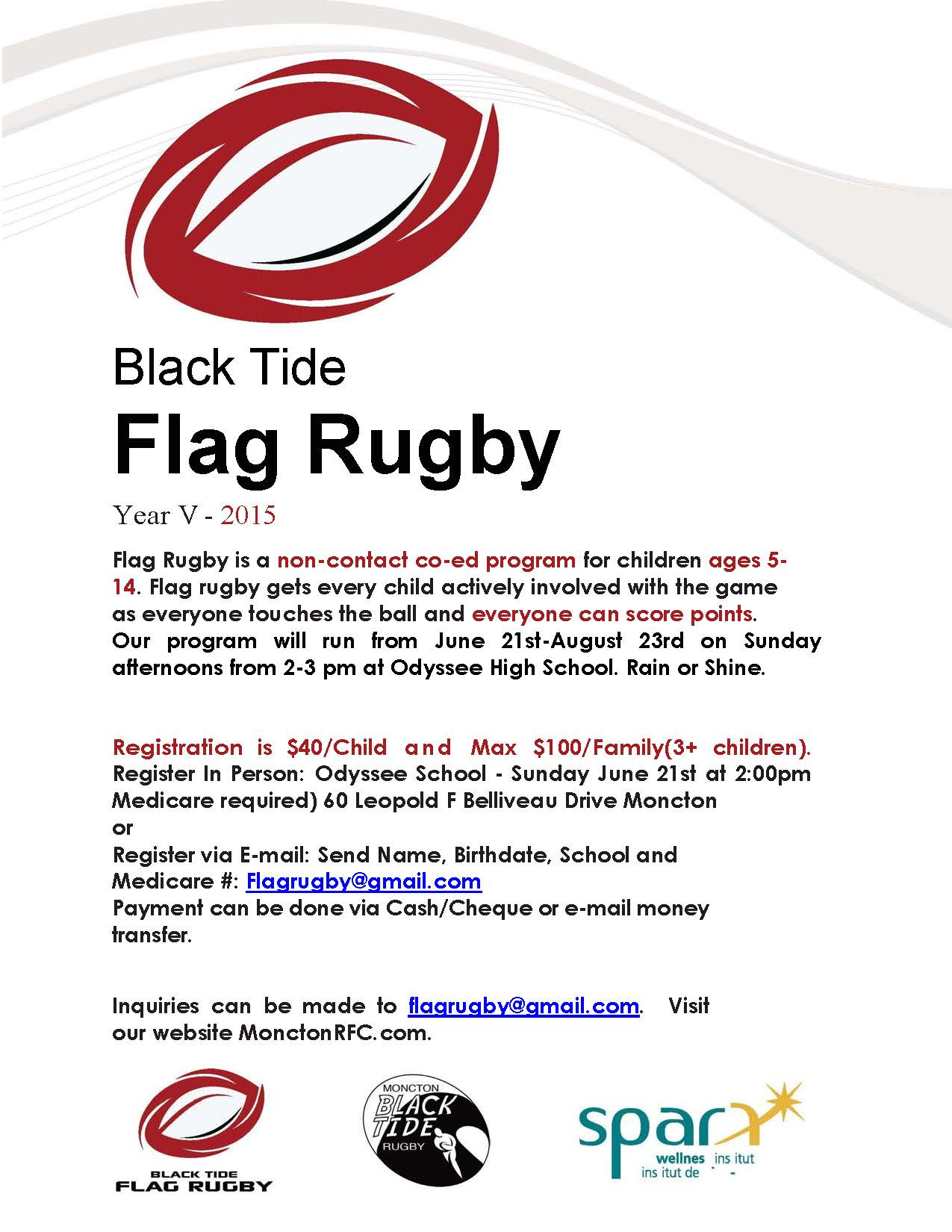 Youth Rugby Rules Flag Flyer Only A